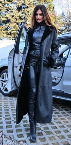"leatherleatherlady: "" I am guessing this is photoshopped but really well done. http://www.leatherleatherleather.com/2016/04/leather-leather-lady.html """