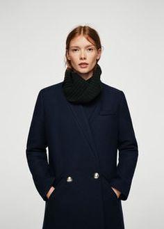 Пальто в стиле милитари, шерсть