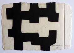 Eduardo Chillida (1924-2002), Idigi II, 1982. Etching on Segundo Santos paper. 21cm H x 14cm W. Edition of 38 copies.