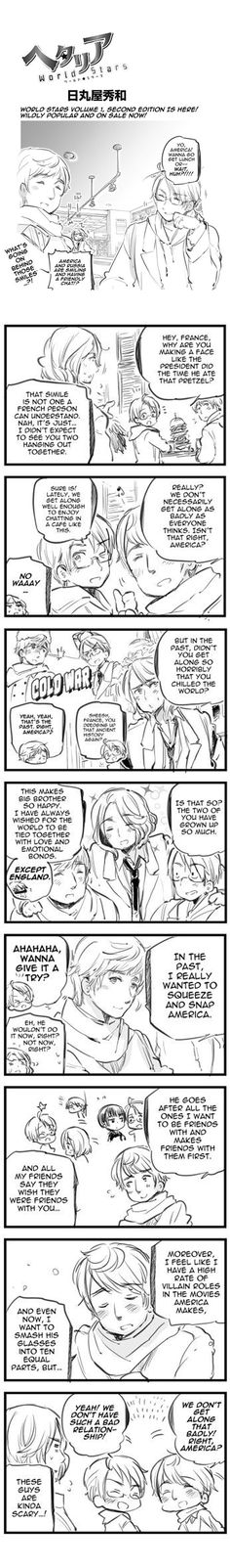 Tell me about it, France. Also, damn, now I ship it. (Still love USUK tho... and FrUK)... I have too many conflicting ships in this fandom.