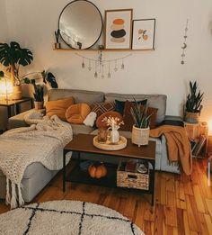 Boho Living Room, Living Room Decor, Bedroom Decor, Bohemian Living, Living Room Inspiration, Home Decor Inspiration, First Apartment Decorating, Apartment Ideas, House Rooms