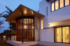 View Outside under Rounded Interior Design Room under Modern Style Showing Iconic Covered Porch Ideas By Clad