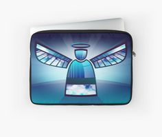 A beautiful angel in blue stained glass. A heavenly design in blues and whites with an inner angelic glow. • Also buy this artwork on phone cases, apparel, stickers, and more.