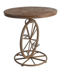 This Round Bicycle Table by Established 98 is perfect! #zulilyfinds
