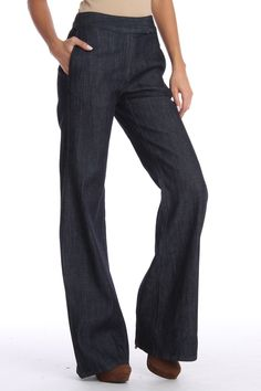 Adam Wide Leg Pants In Indigo