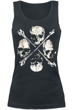 Skulls vest top