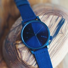 Winston Heritage Blue, one of our favorites from the new Fall 2014 watch collection. #komono #watches