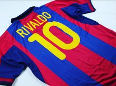 2000-2001 #barcelonafc #classicfootballshirts   Once upon a time....when #Rivaldo was the eighth wonder of the World, and Pepe Reina and Arteta were just 17 and 18 year old youth players.   For sale (plus thousands more) at www.classicfootballjerseys.com Soccer Shirts, Football Jerseys, Classic Football Shirts, Fc Barcelona, Wonders Of The World, Youth, Tops, Fashion, Football T Shirts