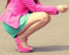 pretty in pink + aqua