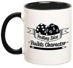 Homebrewing gadgets Builds Character Mug Dungeons and Dragons Mug DnD Mugs Dice Dungeons And Dragons Gifts, Character Sheet, Funny Games, Home Brewing, Gadgets, Geek Stuff, Gift Ideas, Thing Thing, Fantasy