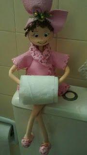 Lubiartes: Boneca porta papel higienico