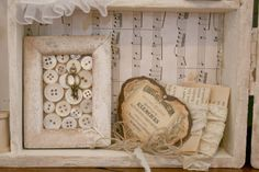 Shabby Chic shadow box~ Love this idea! It gives me more ideas!
