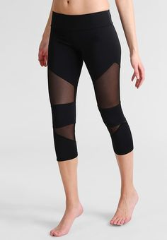 Onzie 3/4 tights with mesh - black