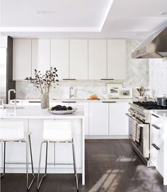 10 Kitchens That Will Make You Reconsider a Stone Tile Backsplash | Hunker