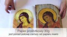 Decoupage krok po kroku - materiały - papier przebitkowy