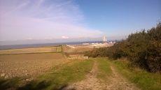 Looking towards Hinkley Point's western perimeter.