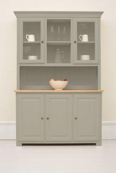 #033 Studio 140cm half glazed open dresser three door