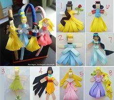 Princesas em fitas ^^