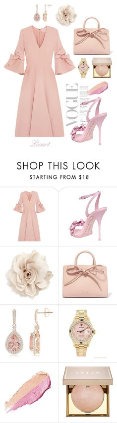 """""""lica romantic"""" by art-perf ❤ liked on Polyvore featuring Roksanda, Sophia Webster, Cara, Mansur Gavriel, Rolex, By Terry and Stila"""