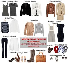 Minimalist French Woman's Wardrobe (As it is in my Imagination / Observation) | Save. Spend. Splurge.