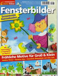 Creativ Idee Sonderheft - Fensterbilder - Motive für Gross und Klein - Comatus Coprinus - Picasa Webalbumok Crafts To Make, Crafts For Kids, Craft Projects, Projects To Try, Magazine Crafts, Collage Illustration, Nursery School, Magazines For Kids, Painted Books