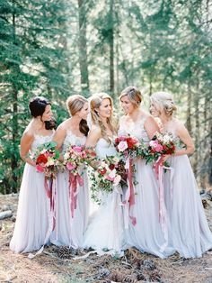 Bridesmaid - Whimsical Summer Wedding At Lake Tahoe Bridal Show, Wedding Show, Summer Wedding, Grey Bridesmaids, Grey Bridesmaid Dresses, Bridesmaid Inspiration, Wedding Photo Inspiration, Woodsy Wedding, Wedding Colors