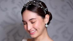 Coleen Garcia wore a stunning handmade headpiece by SEPA CEBU at her wedding. Coleen Garcia, Cebu, Headpiece, Bridal Hair, Change, Graphic Design, Weddings, Logos, Face