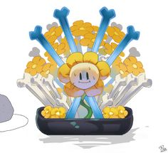 Or crud flowey looks like your having a bad time? Flowey Undertale, Undertale Game, Flowey The Flower, All My People, Toby Fox, Anime Sketch, Bad Timing, Game Art, Nerdy
