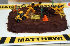 Digger Birthday Cake - An Easy DIY Interactive Birthday Cake
