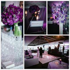 Purple and White Wedding | Newseum Wedding | Magnolia Bluebird design & events {photo credit | Documentary Associates}