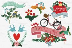 Check out Spring Love Vectors by https://twitter.com/miacharro on Creative Market