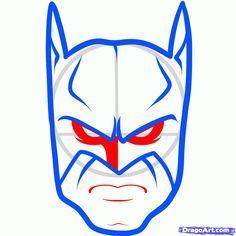 teaching kids, how to draw batman.
