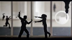 Game And Movie Scenes Visualized With Creative Paper Silhouettes
