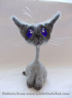 Project by Natalia Rogova. Cat Siam Crochet pattern by Pertseva for LittleOwlsHut #LittleOwlsHut, #Amigurumi, #CrohetPattern, #Crochet, #Crocheted, #Cat, #Pertseva, #DIY, #Craft, #Pattern