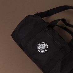 TBHCO - Black Barrel Bag - With Detachable adjustable shoulder strap.