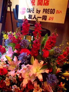 お祝いでいただいたお花★★(*^^) ロゴもちゃんと入ってる!! 感動ですーーー!!!!!!!! すっごくうれしいプレゼントでした★  2013.4.24