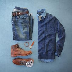 One great thing about men's fashion is that while most trends come and go, men's wear remains stylish and classy. However, for you to remain stylish, there are men's fashion tips you need to observe. Fashion Mode, Look Fashion, Autumn Fashion, Mens Fashion, Daily Fashion, Komplette Outfits, Casual Outfits, Men Casual, Fashion Outfits