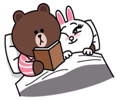 Brown reads bedtime stories to Cony