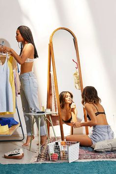 Slide View: 1: Woodlyn Standing Storage Mirror