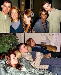 Blast from the past: Channing Tatum and Jenna Dewan-Tatum.