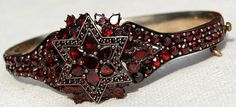 Antique Bohemian garnet bracelet  http://www.rubylane.com/item/585482-A4-25/Large-Vintage-Deep-Red-Bohemian