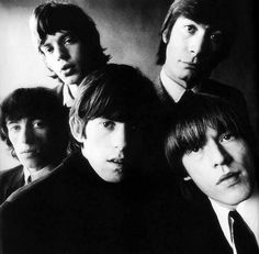 The Rolling Stones in 1964, by David Bailey