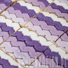 #Schnitte mit #Muster aus #Fondant #Shia #cakeinvasion #ombre #winter #tortendekorieren