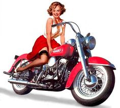 images of pin up girls   54 Classic Motorcycle Pin-ups from Bikes in the Fast Lane - Daily ...