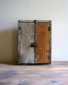 Primitive Wall Cabinet Cupboard Rustic Wall by NaturalVintage
