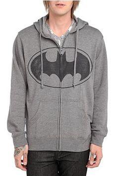 DC Comics Batman Charcoal Hoodie - 131681