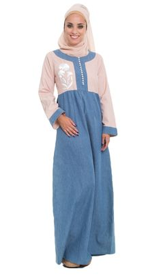 Modern Denim Maxi Dress In Model Ideas