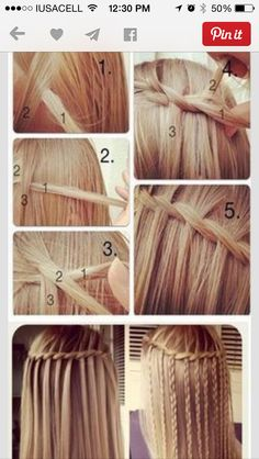 11 Waterfall French Braid Hairstyles: Long Hair Ideas - Looking for Hair Extensions to refresh your hair look instantly? focus on offering premium quality remy clip in hair. French Braid Hairstyles, Cute Hairstyles, Style Hairstyle, Everyday Hairstyles, French Braids, Easy Hairstyle, Hairstyle Ideas, Wedding Hairstyles, French Twists
