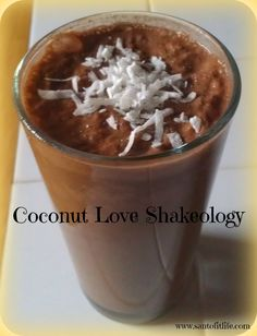 Coconut Love Shakeology! Feel like its summer when there is snow on the ground!   Re-Pin and Share the Deliciousness!  www.santofitlife.com/