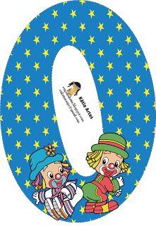 EUGENIA - KATIA ARTES - BLOG DE LETRAS PERSONALIZADAS E ALGUMAS COISINHAS: Letras e Números Patati e Patata Circus Birthday, Circus Theme, 2nd Birthday Parties, Clown Party, Alphabet Templates, Send In The Clowns, Cute Letters, Balloon Decorations Party, Alphabet And Numbers